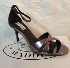 New - Women's Steve Madden Kariina Pewter Open Toe Sandals Size 8