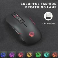 Tenmos M600 Rechargeable USB Wireless Gaming Mouse 1600 DPI Backlight Optical PC