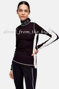 TOPSHOP SNO *Black* Jersey Layering Ski Top & Leggings  Sizes UK12/US8_UK14/US10
