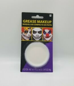 Grease Makeup White Color Cup Oil Based Makeup Clown Halloween Day of the Dead