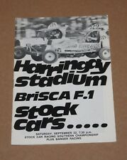 1979 Harringay Brisca F1 stock car Southern Championship programme, 22 September