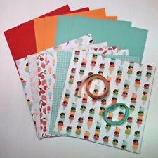 Stampin UP TASTY TREATS CARD KIT - Ribbon, DSP, Card Stock - Ice Cream Sundae