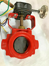 "Kennedy Valve KV- UL/FM 3"" W300 Butterfly Valve Brass Shaft. Coated BFly. Switch"