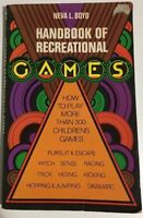 Handbook Of Recreational Games By Neva L. Boyd PB 1975. RARE Book Highly Sought