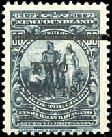 Mint NH Canada Newfoundland 1920 Surcharged 2c-on-30c F+ Scott #127 Stamp