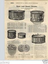 1900 PAPER AD Prussian Regimental Bass Snare Drum Accordeon Accordeons Miniature