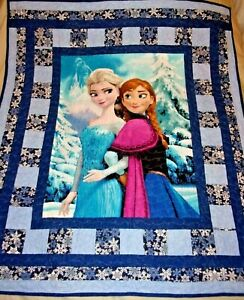 """DISNEY Anna and Elsa Finished Quilt FROZEN 58"""" x 48"""" (New)"""