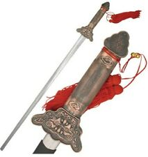 "861C TAI CHI SWORD EXTENDABLE BLADE 37.5"" OVERALL W/ ALLOY HANDLE W/ RED TASSLE"