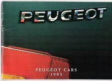 Peugeot 106 205 309 405 605 1991-92 UK Market Sales Brochure