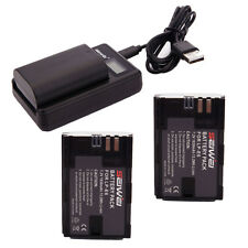 2x LP-E6 Battery + Charger for Canon 5D Mark III II 6D 60D 7D Mark II 70D