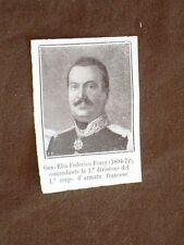 Personaggi illustri del 1859 Generale Elia Federico Forey Corpo Armata Francia