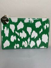 NEW Kate Spade Green White Patent Leather Clutch Bag $75