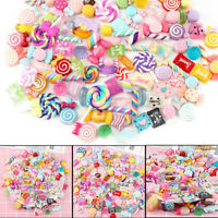 30Pcs/Pack DIY Slime Beads Candy Flatbacks Resin Flat Back Scrapbooking Charms