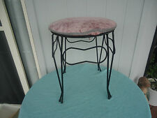 vintage retro bedroom stool wrought iron