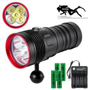 85000LM LED 5* L2 Tauchen Tauchlampe Taschenlampe Unterwasser Video Fotografie