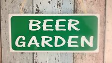 Garden sign - 'BEER GARDEN' for indoors & outdoors -Beer gifts - Handmade in UK!
