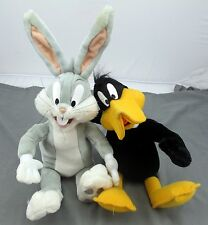 Looney Tunes Bugs Bunny And Daffy Duck Play by Play Plushes Tested & Working