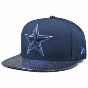 New Era 59Fifty Dallas Cowboys Cap Hat Men's Fitted 7 3/8 Snakeskin Sleek Navy