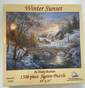NEW Winter Sunset Puzzle 1500 piece  SunsOut # 19248  Made in USA