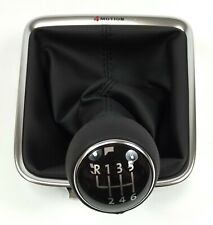 NEW GENUINE VW TIGUAN SHARAN 4MOTION BLACK LEATHER 6 SPEED GEARKNOB
