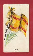 R.  &  J.  HILL  LTD. - VERY RARE MILITARY CARD - FLAGS  -  SPAIN - 1901