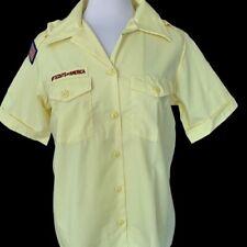 Womens Large Boy Scouts Of America BSA Uniform Blouse Shirt Cub NWT Yellow