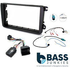 Car Stereo Double Din Fascia & Steering Wheel Kit Fits VW T5.1 Transporter VW06