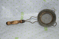 Vintage Strainer/Small Sieve Wooden Handle - 8 Inches Long