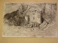 Ecole FRANCAISE XIX DESSIN d'après NATURE PAYSAGE MEREY EURE NORMANDIE 1810 d