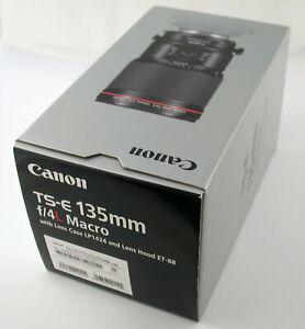CANON EF EOS TS-E L Macro 4/135 135 135mm F4 4 Neu Insolvenz New Insolvency