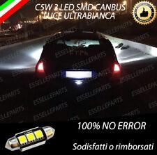 LAMPADA LUCE TARGA LED RENAULT CLIO MK2 3 LED SMD CANBUS 6000K NO AVARIA