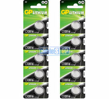 10 x GP CR2016 3V Lithium Button Battery Coin Cell DL2016 EXPIRY 2026