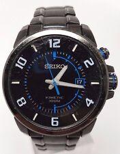Seiko Black Men's 100m Black Tone Stainless Steel Watch SKA555