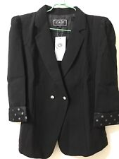 LADIES BLAZER TWO BUTTON FITTED COAT WOMENS SUIT JACKET CASUAL OFFICE TOP UK