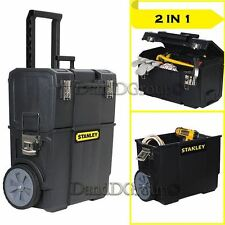 NEW Stanley 2-In-1 Rolling Tool Box Organizer Mobile Center Cart Storage Cabinet