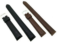 XXL Uhrenarmband, Uhrband 16mm schwarz braun Büffel Leder