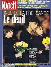COUVERTURE de MAGAZINE,COVERAGE Paris-Match n°2967 30/03/07 Ines de la Fressange