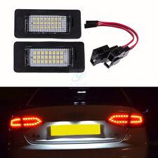2x License Number Plate LED Light Lamp for Audi A4 B8 A5 Q5 Passat S5 Error Free