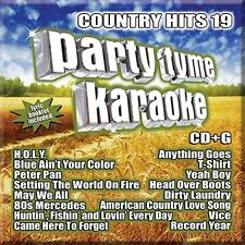 PARTY TYME KARAOKE CD - COUNTRY HITS 19 (2017) - NEW UNOPENED