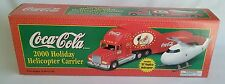 COCA-COLA 2000 HOLIDAY HELICOPTER CARRIER DIE CAST METAL LIMITED EDITION NIB