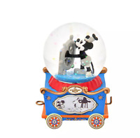 Disney Store JAPAN Snow Globe Mickey Steamboat Willie Mini Dolly Collection New