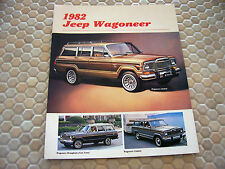 JEEP OFFICIAL WAGONEER SERIES SALES BROCHURE 1982 USA EDITION