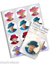 12 Regina Elizabeth Topper Per Cupcake Commestibile Decorazioni Torta