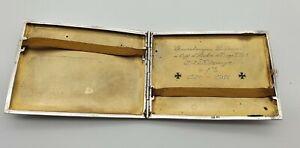 WW1 GERMAN SILVER CIGARETTE CASE PRESENTED TO RUDOLF DANNER LIEUTENANT GENERAL