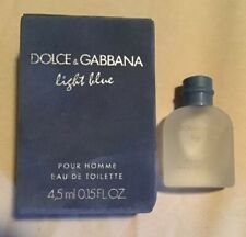 NEW MINI Dolce & Gabbana LIGHT BLUE Pour Homme  EDT Splash Bottle .15 Oz NIB