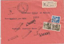 RACCOMANDATA Pescara x Città-SCONOSCIUTO AL PORTALETTERE-AL MITTENTE-26.4.1966