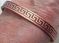 Copper Cuff Bracelet Wheeler Sciatica Arthritis Healing Detox Folklore cb 146