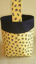 Handarbeitstasche, Wollekorb, Handarbeitskorb, Strickkorb -  fleißige Bienen