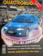 Quattroruote 487 1996 Allegato Spider mania. Fiat 500: cambia e cresce [Q.35]