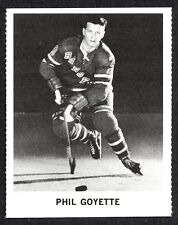 1965 COCA-COLA COKE PHIL GOYETTE N-MINT NEW YORK N Y RANGERS  HOCKEY CARD